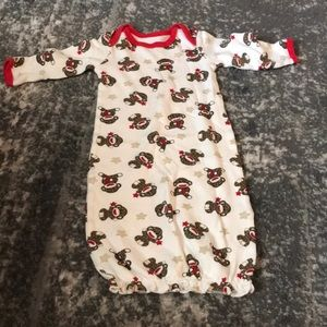 0-6 month Sock Monkey gown